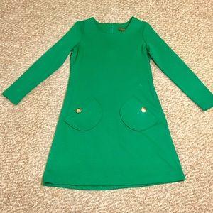 Vintage mod retro green dress